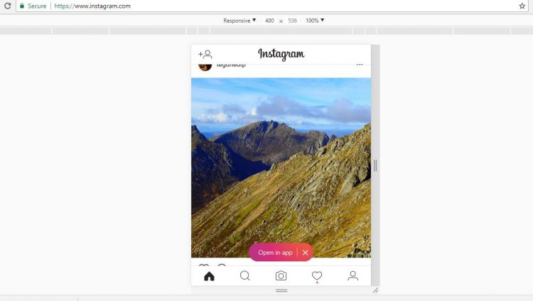 cara upload foto di instagram tanpa software di google chrome